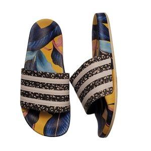 Adidas Adilette Tropical Floral Print Slide Sandal